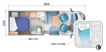 Roller Team Auto Roller 695-P floor plan