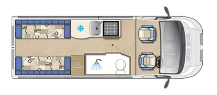 Auto-Sleeper Warwick Floor Plan