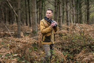 Portrait of naturalist, nature photographer, television presenter and author Chris Packham.