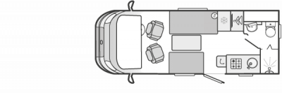 Swift Rio 310 floorplan