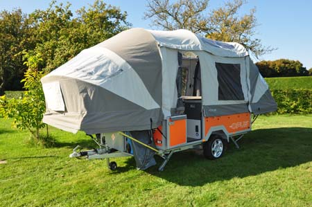 Opus Trailer Tent Erected