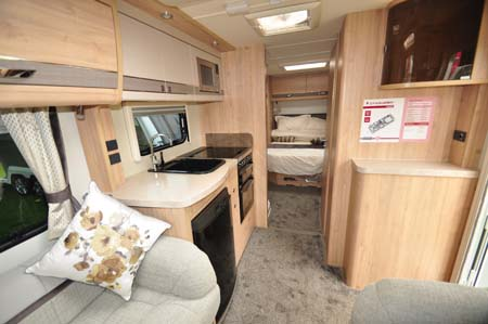 Elddis Crusader Aurora Interior looking back