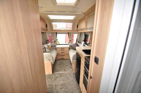 Elddis Crusader Aurora Interior looking forward