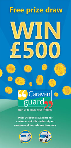 Win £500 dealer prize draw flyer