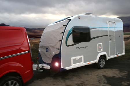 Protec caravan towing cover