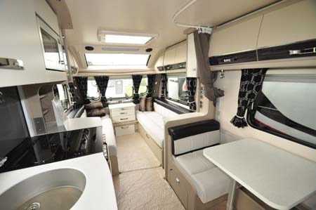 Sterling Continental 530 interior looking forward