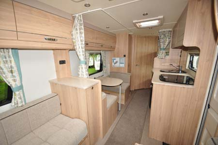 Elddis Xplore 586 Interior looking back