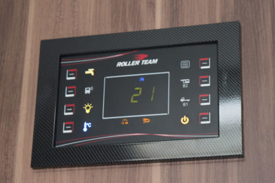 motorhome display panel