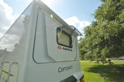 Adria Compact Plus SLS Rear Window