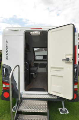 Swift Basecamp Rear door