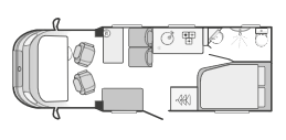 Swift Escape 664 Floor Plan