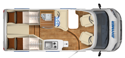 Hymer Van 374 Floor Plan