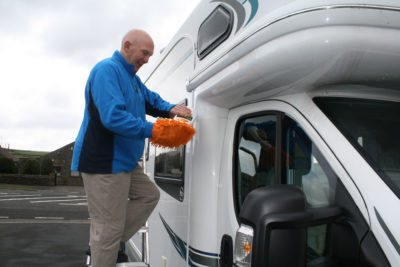 Clean your motorhome