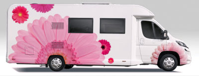 Flower motorhome wrap