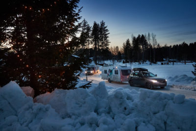 Winter caravanning in Kuopio