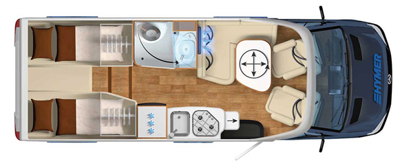 Hymer ML-T 570 60 Floor plan