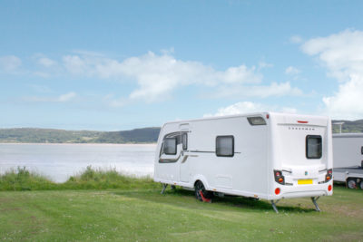 first caravanning holiday Anglesey