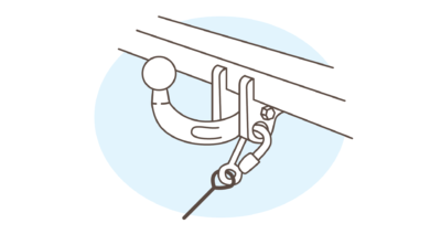 breakaway cable point - hitch