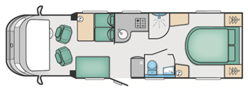 Swift Bessacarr 599 Floor Plan