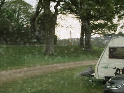 rainy day in a caravan