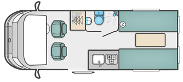 Swift Select 122 Motorhome Floor Plan