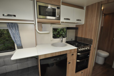 Swift Sprite Quattro EB kitchen