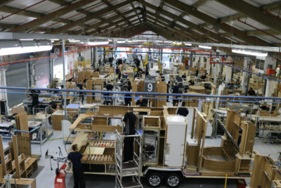 Bailey caravans construction factory
