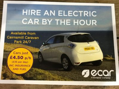 hire an ecar postcard