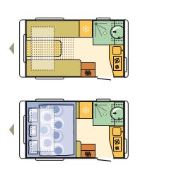 Adria Action 361 LT floor plan