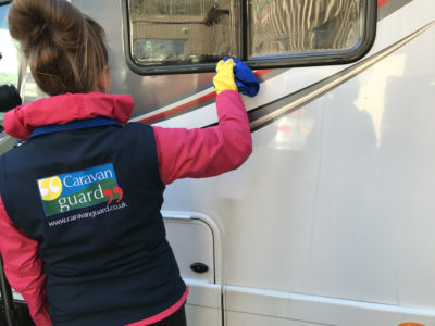 Motorhome cleaning - removing black streaks