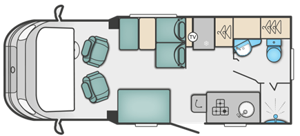 Swift Escape 604 floor plan