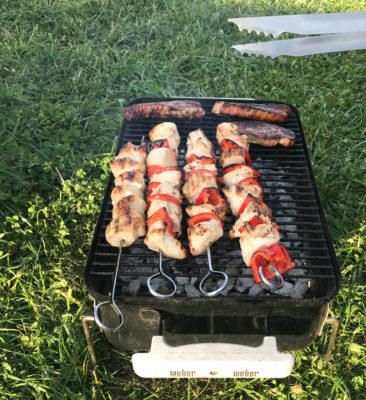 Weber charcoal barbecue bbq