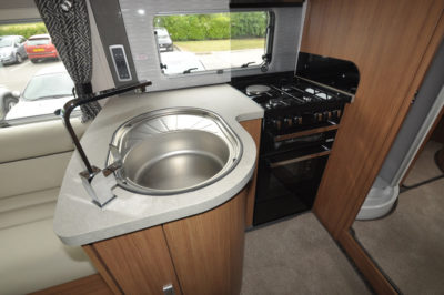 Auto-Trail Delaware HB L-shaped kitchen