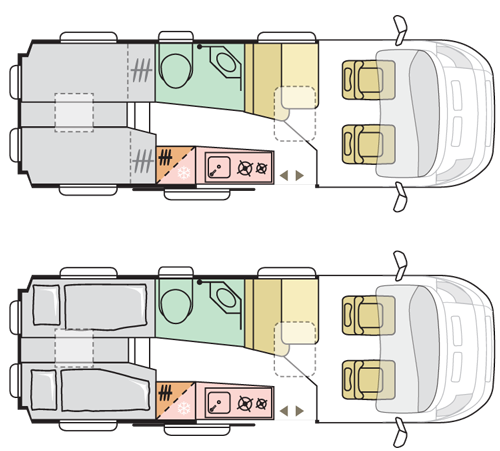 Adria Twin Supreme 640SLB floor plan