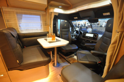 Hymer BMC motorhome seating
