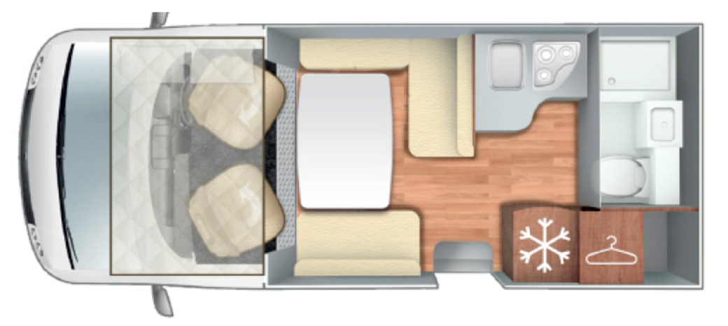 Roller Team Pegaso 590 floor plan