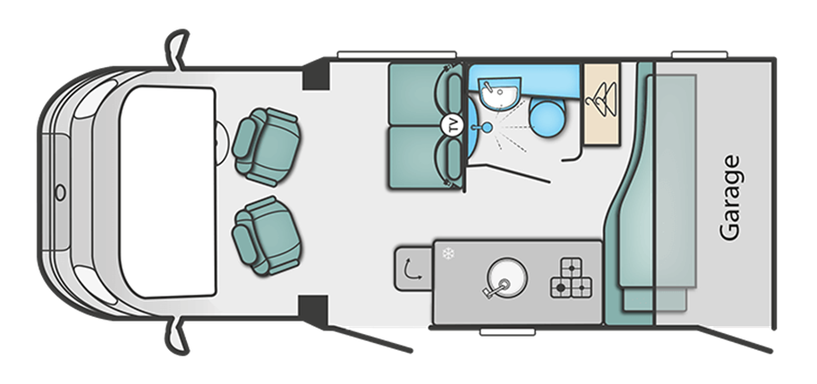 Swift Escape Compact 205 Floor Plan