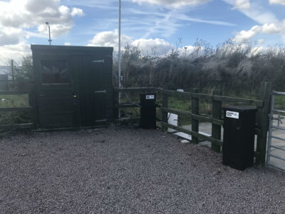 Water and electric at secure storage site