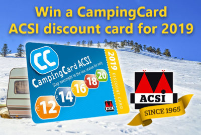 Win one of 25 CampingCard ACSI 2019 discount cards thumbnail