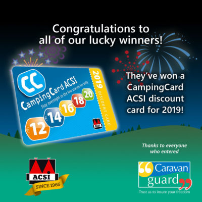 ACSI CampingCard competition winners