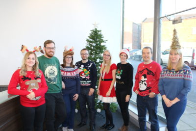Caravan Guard Christmas jumper day