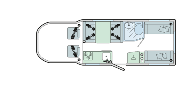 2019 Bailey Alliance 70-6 motorhome floorplan