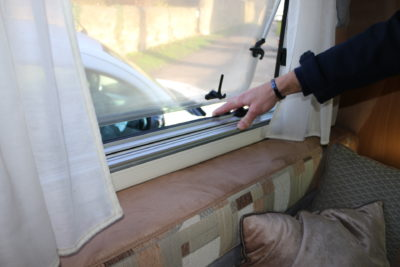 Motorhome window seal check