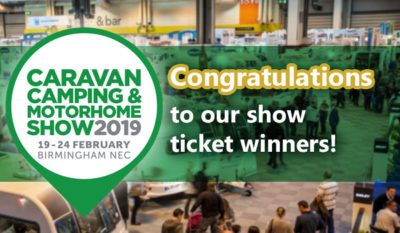 2019 Caravan, Camping and Motorhome Show ticket winners revealed! thumbnail