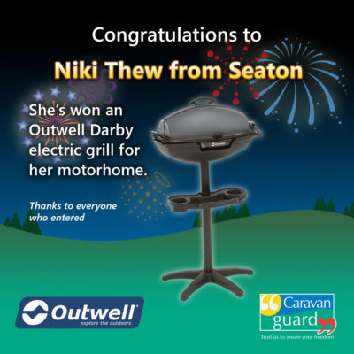 Outwell Darby Grill competition winner