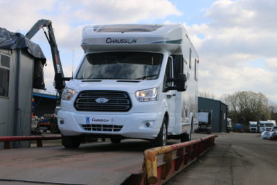 Motorhome on weighbridge