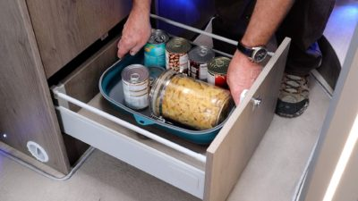 food in drawer