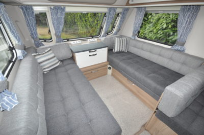 2019 Swift Sprite Super Quattro DB caravan lounge