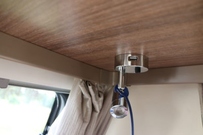 2019 Bailey Phoenix 420 caravan reading lamp