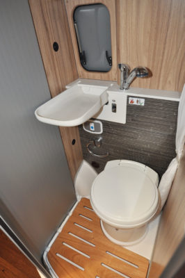 2019 HymerCar Ayers Rock Crossover campervan washroom